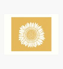 Yellow Flower Drawing Tapestry Art Print