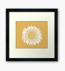 Lámina enmarcada Tapiz de dibujo de flor amarilla