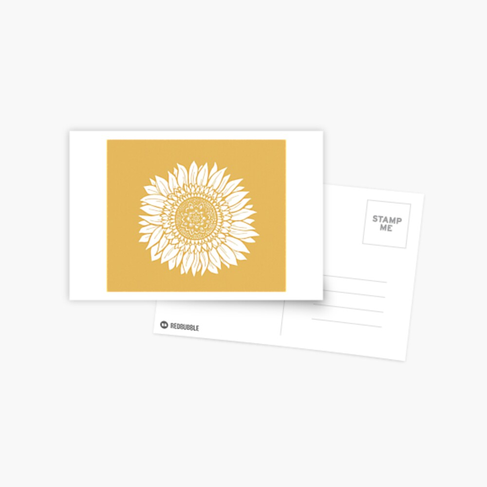 Yellow Flower Drawing Tapestry Postcard