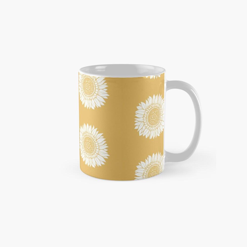 Yellow Flower Drawing Tapestry Mug