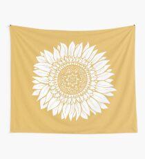 Tela decorativa Tapiz de dibujo de flor amarilla