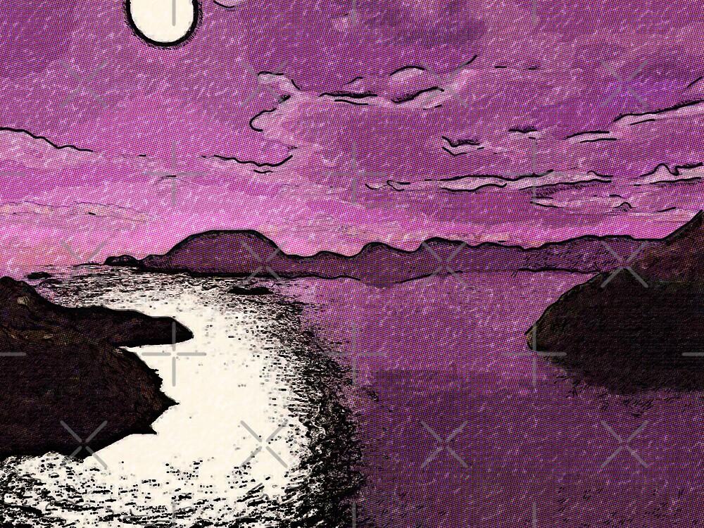 Purple Moonlight by Gal Lo Leggio