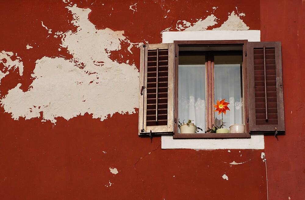 Window with Brown Shutters, Izola by jojobob
