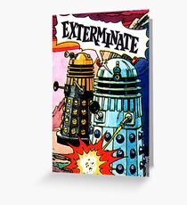 Weetabix Doctor Who 1977 Exterminate Greeting Card
