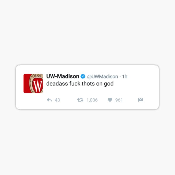 Iconic Wisconsin Tweet Sticker