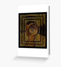 Magnification. Greeting Card