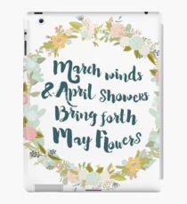 May Flowers brush script iPad Case/Skin