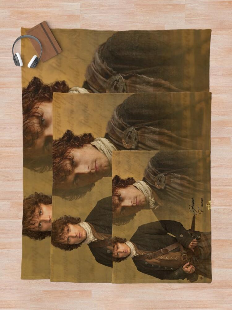 Alternate view of Jamie Fraser Throw Blanket