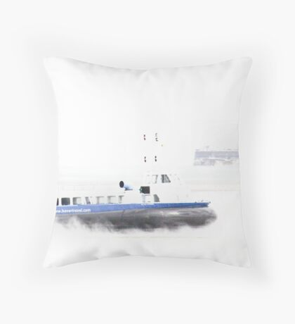 It's quicker than the ferry - high key Throw Pillow