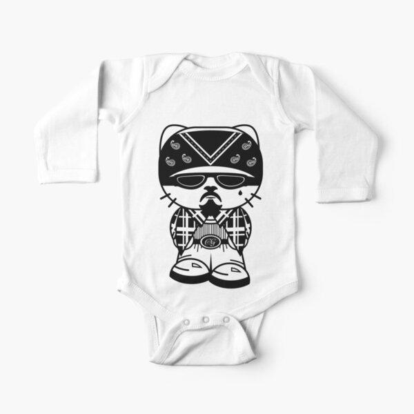 Cholo Gato Thug Cat Long Sleeve Baby One-Piece