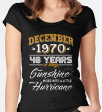 48th Birthday Gifts - 48th Wedding Anniversary Memorable Gifts - December 1970 Women's Fitted Scoop T-Shirt