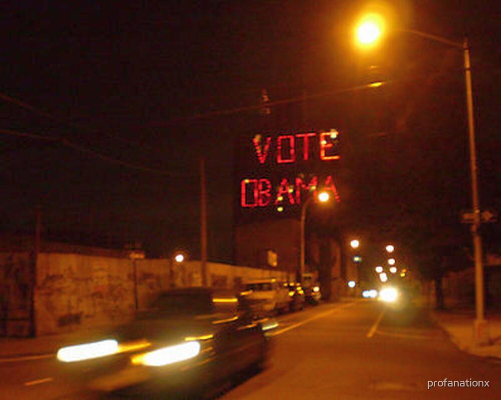 vote obama. by profanationx