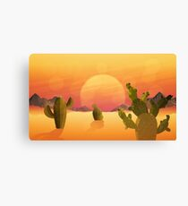 The flat desert. Canvas Print