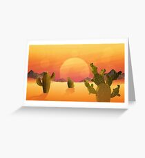The flat desert. Greeting Card