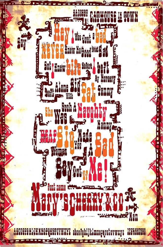Mary's Cherry & Co. Typeface Sample Page by chung-deh tien