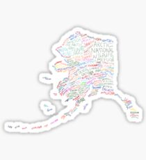 Alaska: Find Your Place Sticker