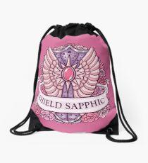 SHIELD SAPPHIC Drawstring Bag