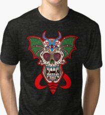 Undead Sugar Skull Tri-blend T-Shirt