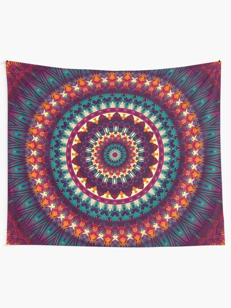 Alternate view of Mandala 81 Tapestry