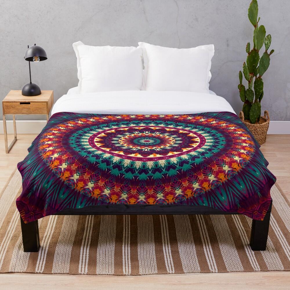 Mandala 81 Throw Blanket