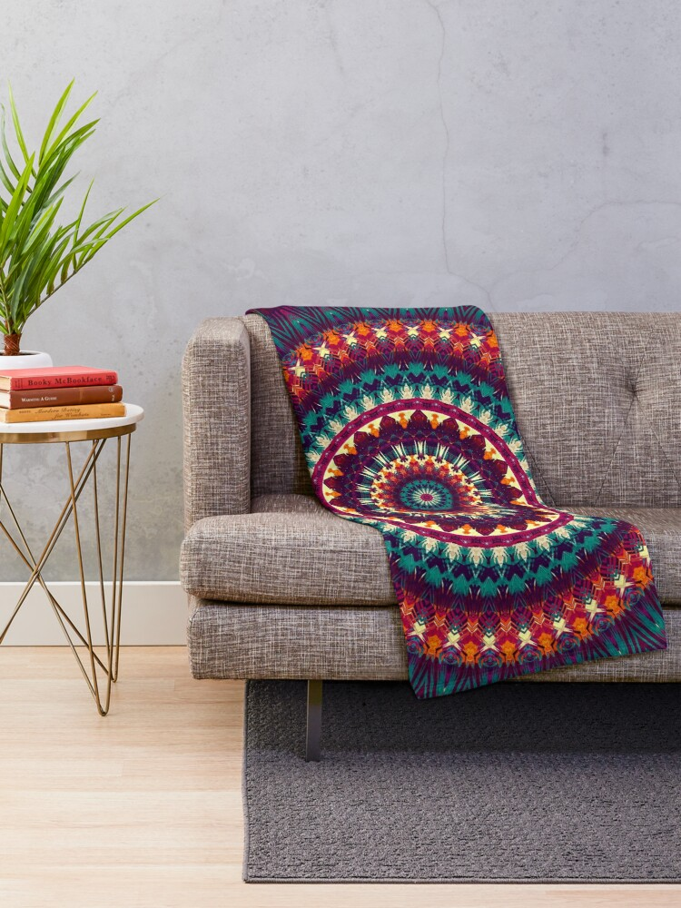 Alternate view of Mandala 81 Throw Blanket