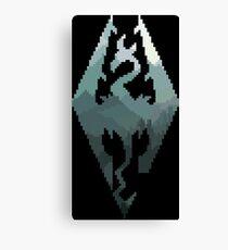 Skyrim Pixel Style Canvas Print