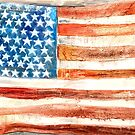 Flag with Stars by pollyalice