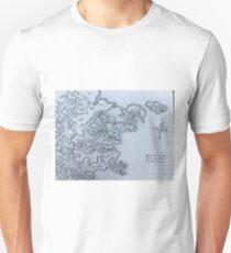 Retro Fantasy Map (Drow Elves) Unisex T-Shirt