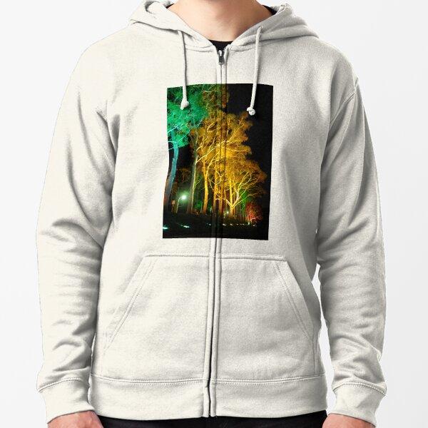 Tree Lights Zipped Hoodie