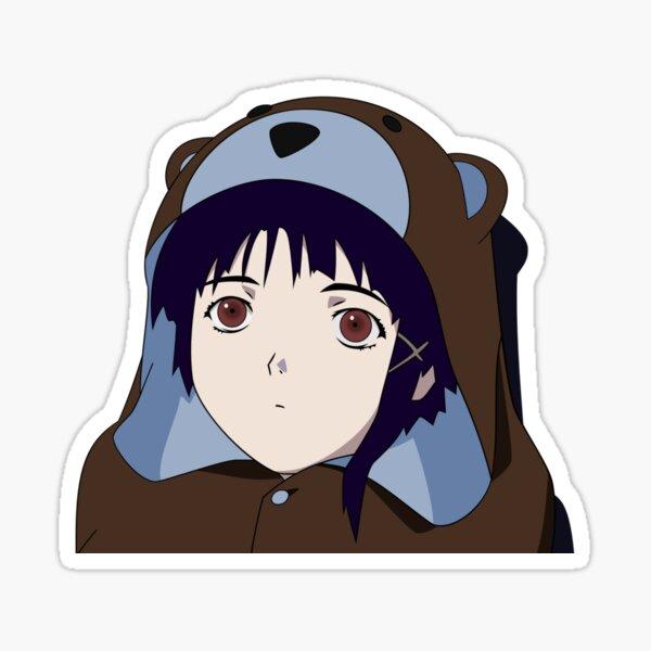 Bear Suit Lain  Sticker
