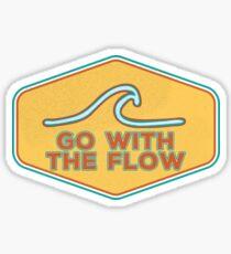 Go With the Flow - Vintage Design Sticker