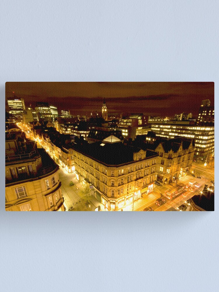 Alternate view of Manchester by night Canvas Print