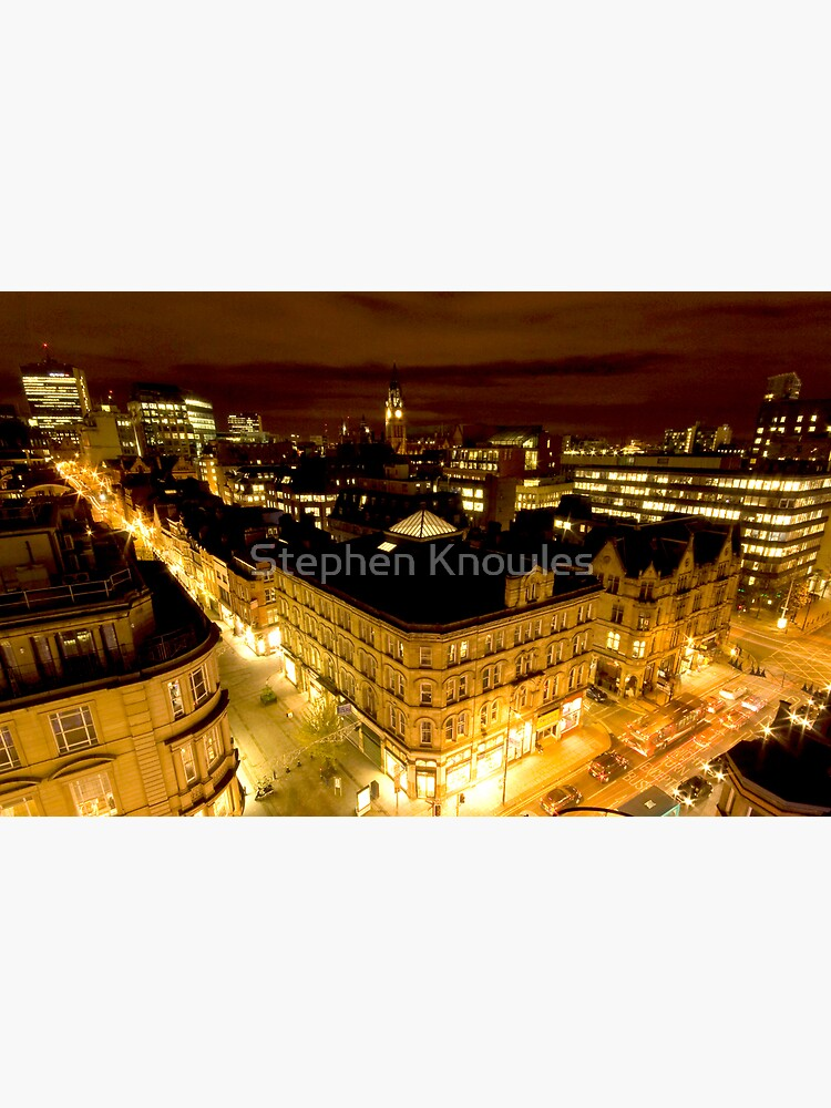 Manchester by night by stephenknowles