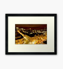 Manchester by night Framed Print