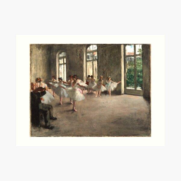 Ballet Rehearsal in 1873 Art Print