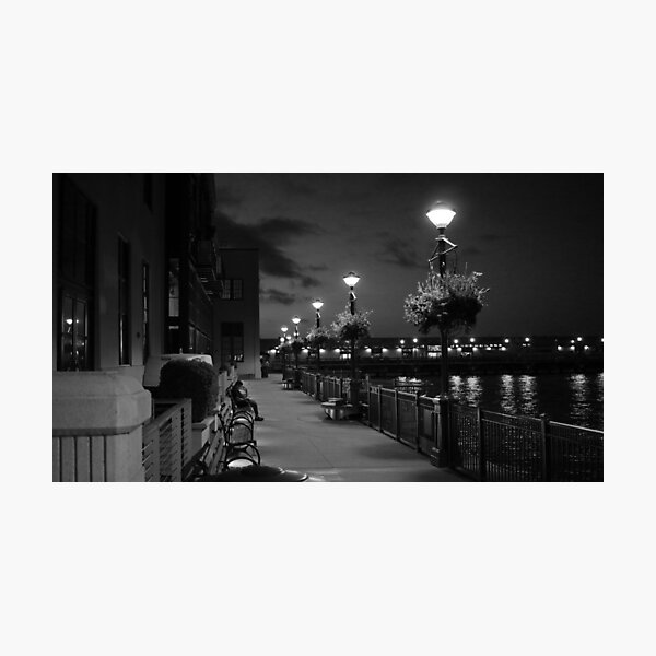 Man on Bench Photographic Print