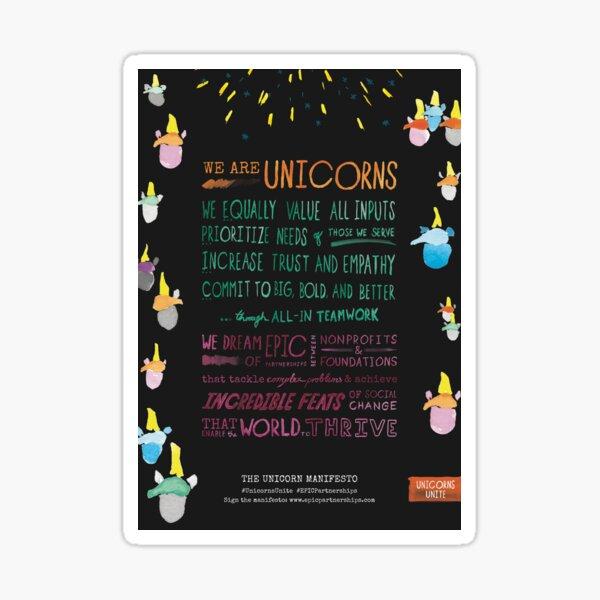 The Unicorn Manifesto (Black) Sticker