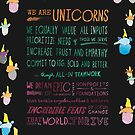 The Unicorn Manifesto (Black) by Unicorns Unite