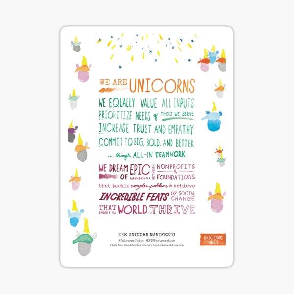The Unicorn Manifesto (White) Sticker