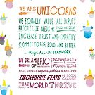 The Unicorn Manifesto (White) by Unicorns Unite