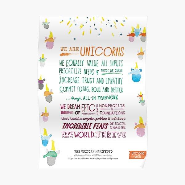 The Unicorn Manifesto (White) Poster