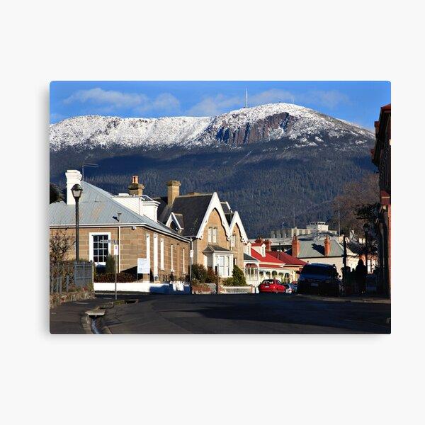 Mount Wellington in snow Canvas Print