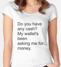 Demanding wallet Women's Fitted Scoop T-Shirt