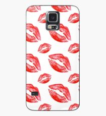 Large Lips, small lips, red kissing lips Case/Skin for Samsung Galaxy