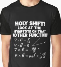 Holy Shift Look At The Asymptote On That Mother Function Gift Graphic T-Shirt