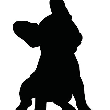 French Bulldog Sitting with Head Tilted Silhouette by getagreatdeal