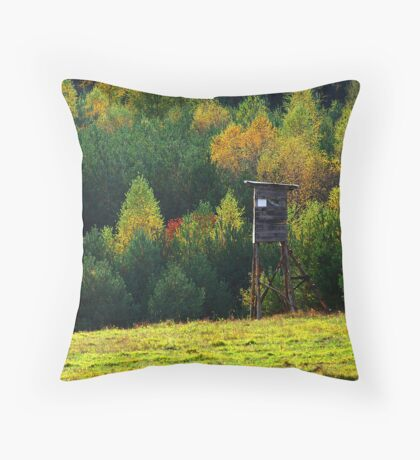 View of autumn with the pulpit Throw Pillow
