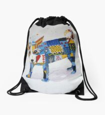 The Patchwork Dog Drawstring Bag