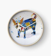 The Patchwork Dog Clock
