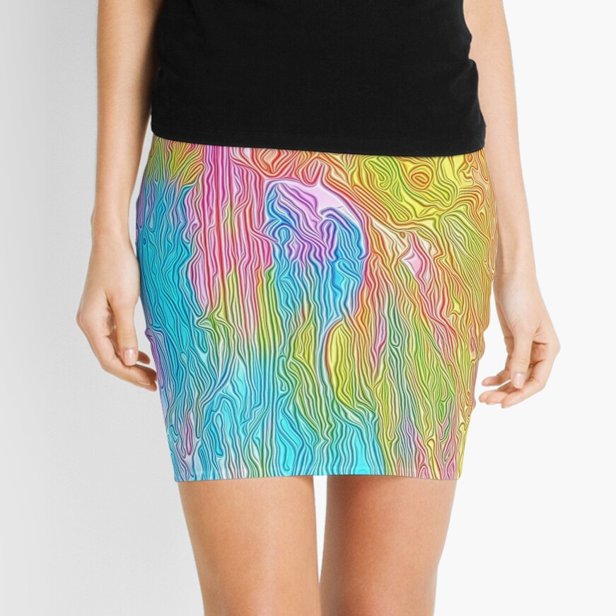 Abstract musician Mini Skirt
